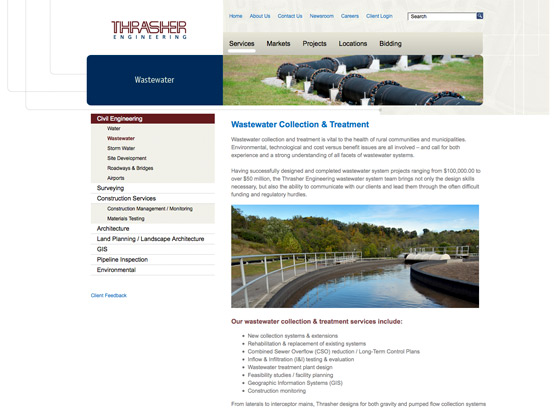 Thrasher Engineering website design
