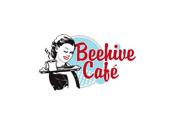 Beehive Cafe logo design
